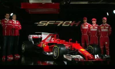 Presentan el SF70-H, nuevo coche de Ferrari