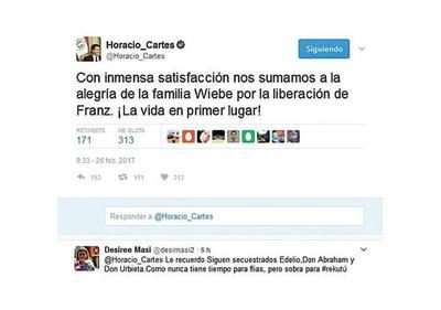 Lluvia de críticas a Horacio Cartes  en las redes sociales