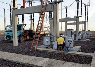 Mantenimiento en la estación de 500 kV