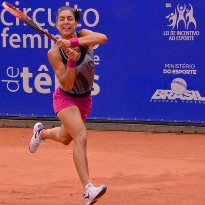 Montserrat González cayó en singles del torneo de Curitiba