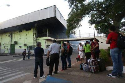 Terminal de ómnibus funcionaría al 100% desde el mediodía