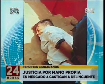 Ciudadanos detuvieron y golpearon a presunto delincuente en Mercado 4