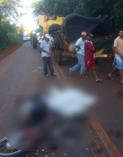 Motociclista muere en Itakyry