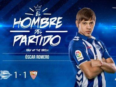Óscar Romero elegido el mejor de su equipo