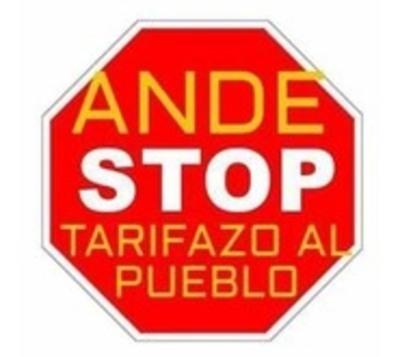 Ciudadanos protestarán contra 'tarifazo' de la ANDE