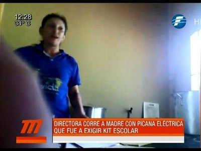 [VIDEO] Directora corre a una madre con picana eléctrica