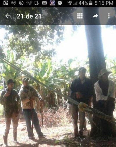 Campesinos retienen a policías en Bella Vista