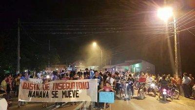 Pobladores de Nanawa toman las calles contra la inseguridad