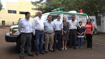 ENTREGAN AMBULANCIA 0 KM PARA LA UNIDAD DE SALUD FAMILIAR DE PIRAPÓ.
