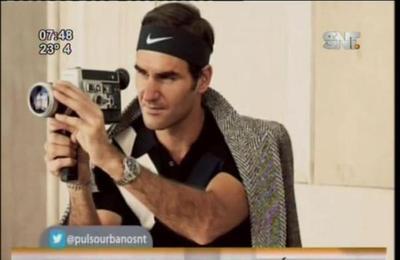 Roger Federer debuta como modelo