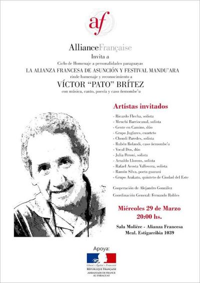 Canto y poesía en homenaje póstumo a Pato Brítez