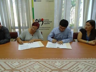 Firman alianza que beneficiará a Centro Cultural Paraguayo Japonés