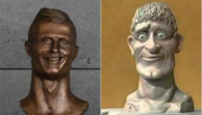No puede no gustarte el nuevo busto que le dedicaron a Cristiano Ronaldo