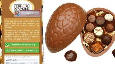 Estafan por WhatsApp con huevo de Pascua