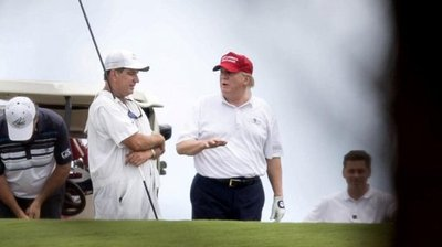 Trump se relaja en Palm Beach tras atacar a ISIS