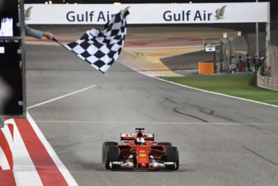 Vettel gana en Bahréin y lidera el Mundial