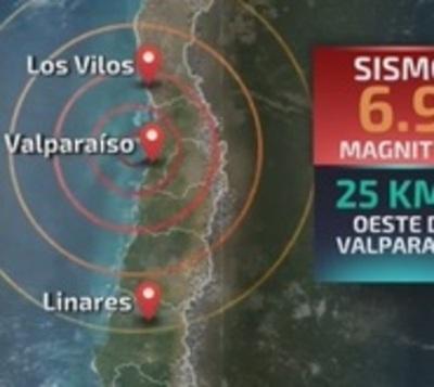 Sismo de 6,9 sacude la zona centro de Chile
