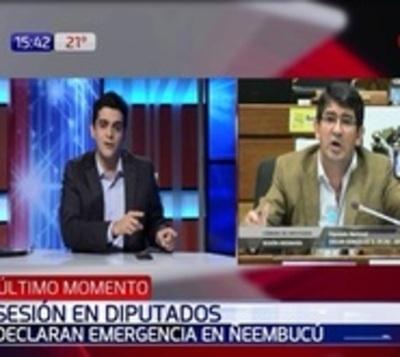 Diputados declaran emergencia en Ñeembucú e Itapúa