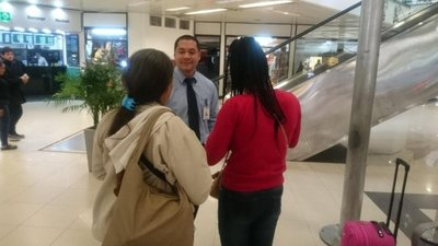 Compatriota repatriada desde Sudáfrica