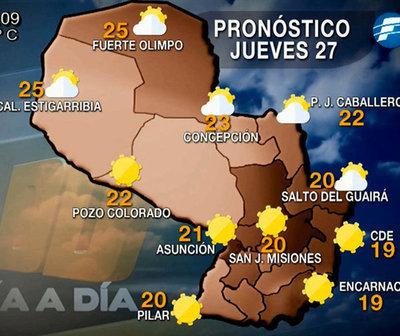 Jueves frío a fresco con vientos del sur