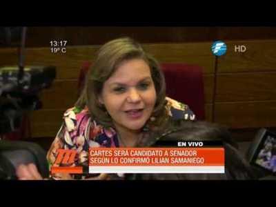 Cartes será candidato a senador, según Lilian Samaniego
