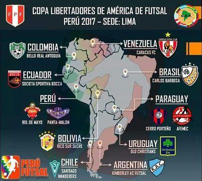 Para el mediodía ya se tendrá grupos coperos de Futsal para Libertadores