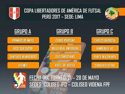 Equipos paraguayos de Futsal ya conocen rivales para la Libertadores Lima 2017