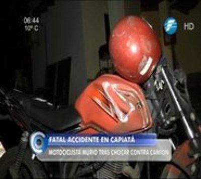 Accidente en Capiatá se cobra la vida de un motociclista