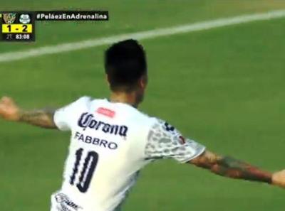 Goles de Fabbro y Osvaldito en México