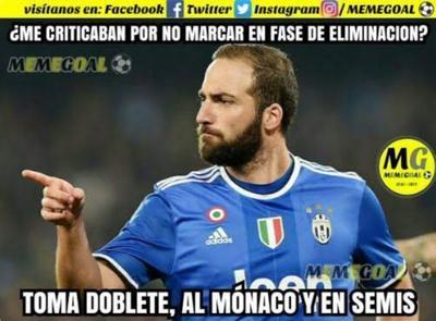 Higuaín acapara los memes de semifinales de la Champions