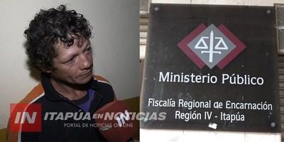 FISCAL DÍAZ PIDE REMISIÓN AL PENAL PARA HOMBRE VIOLENTO