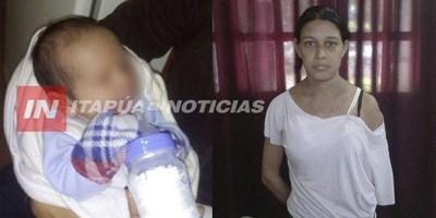 TRÁFICO DE MENORES: SUPUESTA MADRE DETENIDA EN CAACUPÉ
