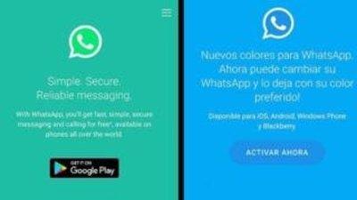 WhatsApp en colores.¿De que se trata?