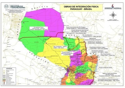 Para conectividad física con el Brasil se invertirá  USD 1.965 millones