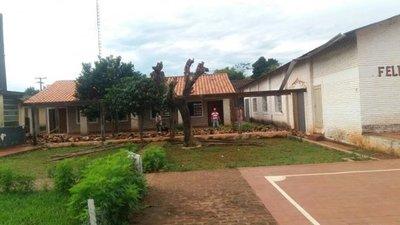 Reparan colegio de Ybycuí tras movilizacion estudiantil