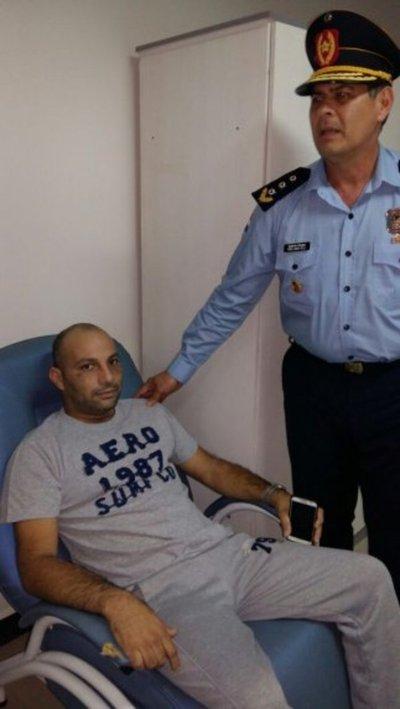 Alta médica a policía herido en megaasalto