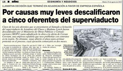 Licitación del superviaducto incluyó una extraña evaluación de ofertas