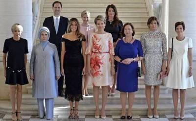 Esposo de primer Ministro posó en foto de primeras damas y 'sacudió' al mundo