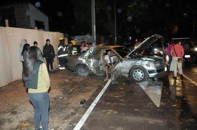 Cuatro lesionados en accidente de tránsito