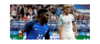 Francia gana a Inglaterra a pesar de la expulsión de Varane