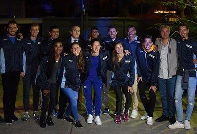 La bienvenida a atletas uruguayos