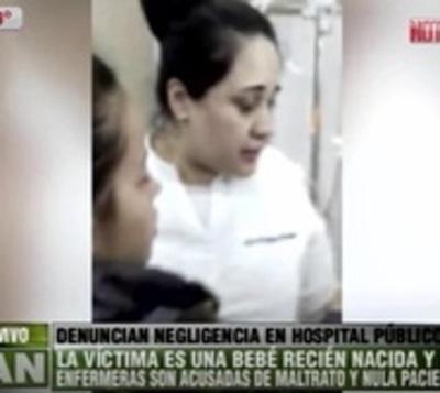Denuncian negligencia: 4 enfermeras no encontraron vena de bebé