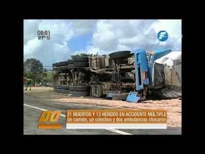 Brasil: 21 fallecidos en múltiple choque