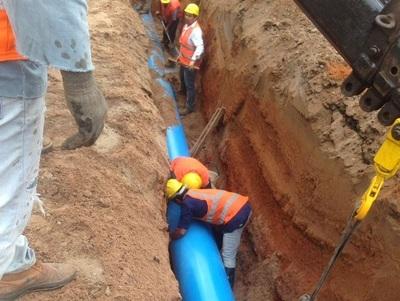 ESSAP trabaja en instalación de aductora en Guairá