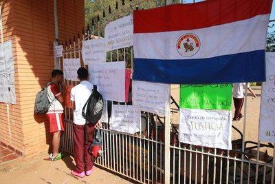 Alumnos piden que vuelva la paz