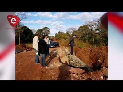 Reparan puentes afectados por las últimas precipitaciones en Capitán Meza