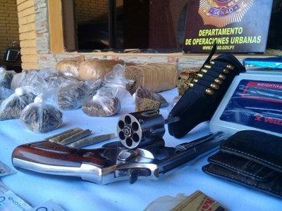 Armas de fuego y drogas en una casa de Sajonia
