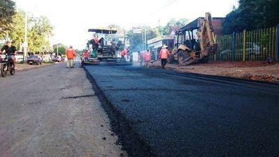 Nuevos tramos asfaltados en ciudades de Central