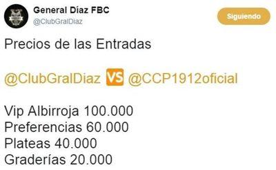 Precios para el debut de Cerro