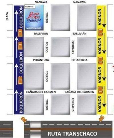 Cambian el sentido de calles en Mariano Roque Alonso
